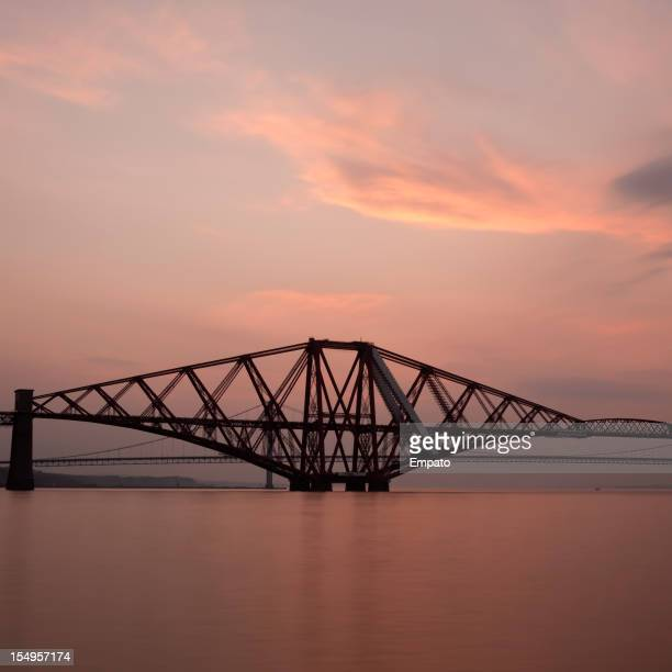 Sunset over the River Forth.