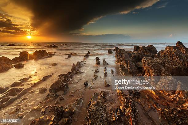 Sunset over the rocks at Mindil Beach