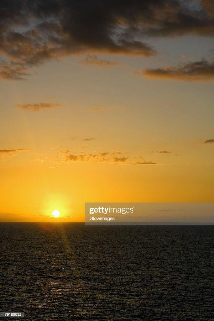 Sunset over the sea, Hawaii Islands, USA : Foto de stock