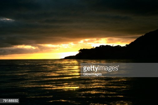 Sunset over the sea, Koro Island, Fiji : Foto de stock
