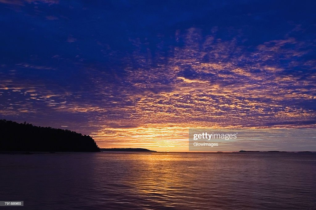 Sunset over the sea, Sulawesi, Indonesia : Stock Photo