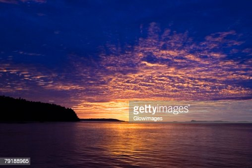 Sunset over the sea, Sulawesi, Indonesia : Foto de stock
