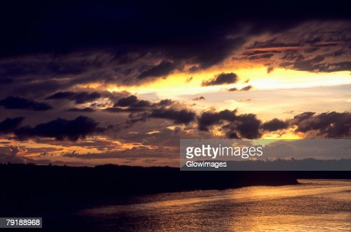 Sunset over the sea, Wakaya, Fiji : Stock Photo