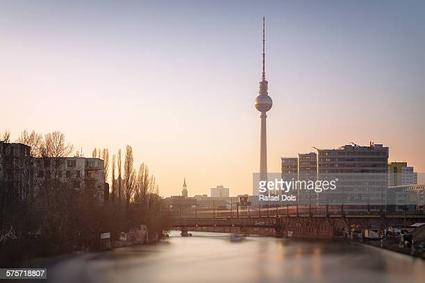 Sunset over the Spree, Berlin, Germany