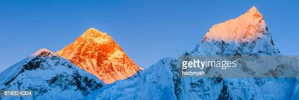 Sunset over the top of world - Mount Everest mountain