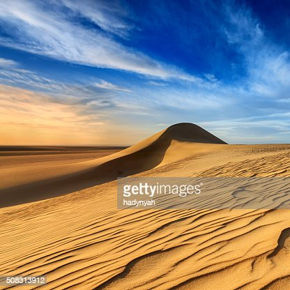 Sunset over The Western Sahara Desert in Africa