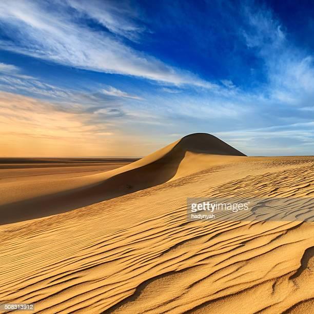 Sunset over The Western Sahara Desert in Africa