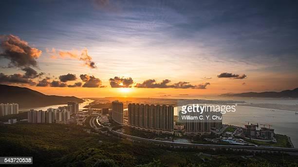 Sunset over Tung Chung, Hong Kong