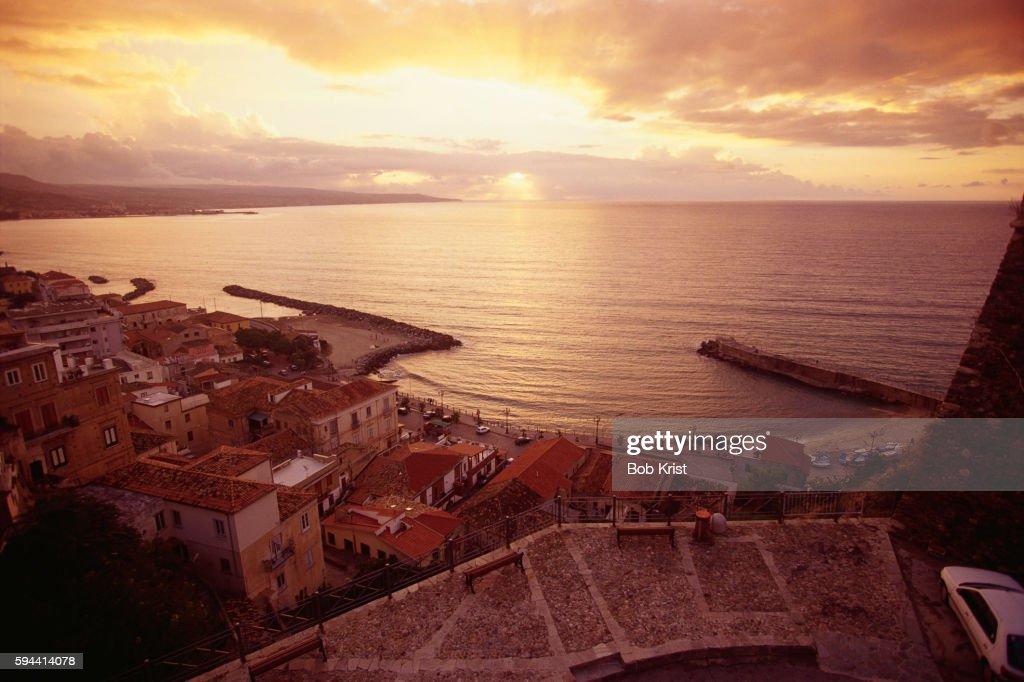 Sunset over Tyrrhenian Sea
