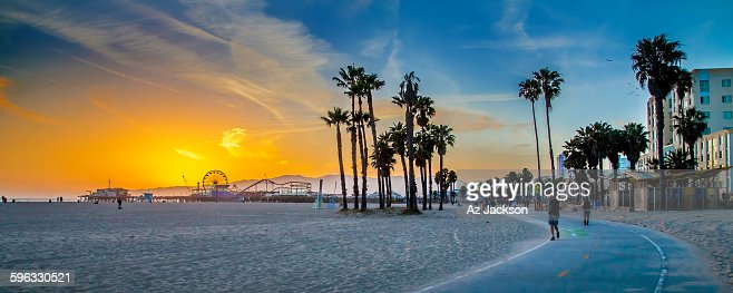 Sunset over Venice Beach