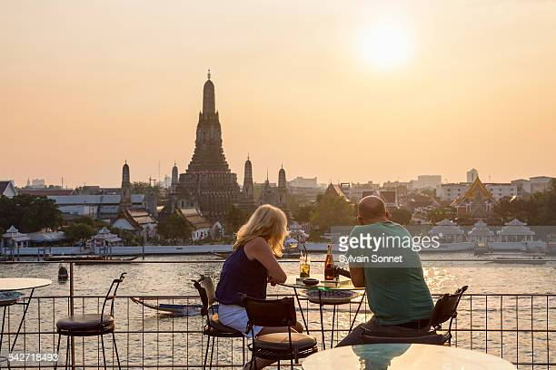 Sunset over Wat Arun Temple
