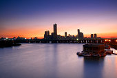 Sunset over Yeouido and Hangang river