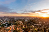 The sunset at LA from Griffith Observatory.
