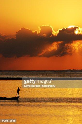 Sunset Punt : Stock Photo