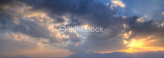 Sunset Quetta Balochistan Pakistan Stock Photo   Thinkstock