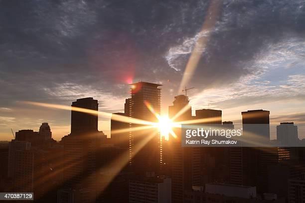 Sunset Rays Through CityHenge of Toronto