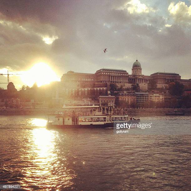 Sunset River cruise at Danube, Budapest, Hungary
