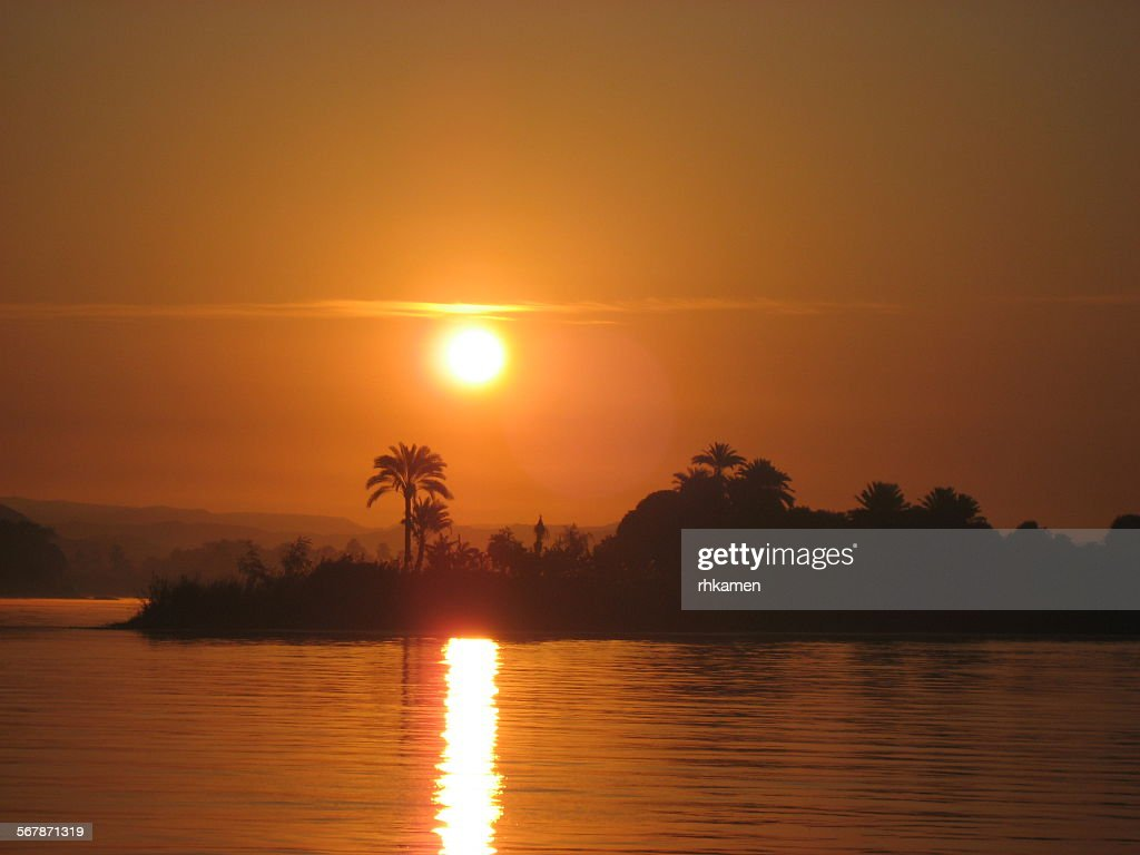 Sunset, River Nile, Egypt