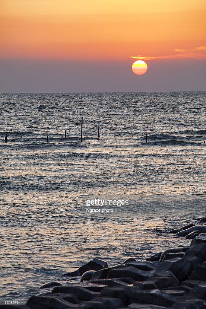 Sunset sea : Stock Photo