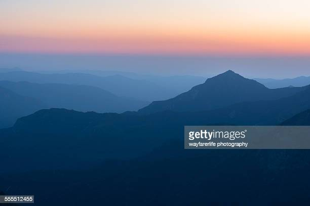 Sunset shades over mountains