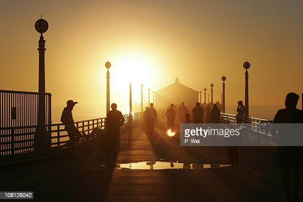 Sunset Silhouette at the Pier