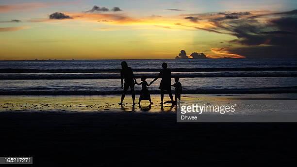 Sunset & Silhouettes In Kuta Beach  Bali
