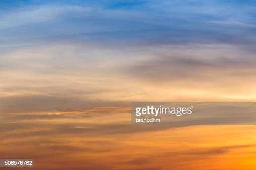 sunset sky background : Stock Photo