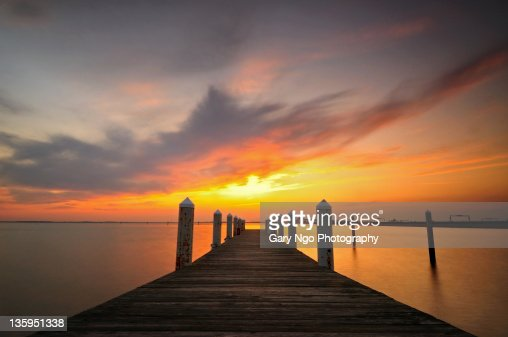 Sunset Sky from a pier, Maryland, USA