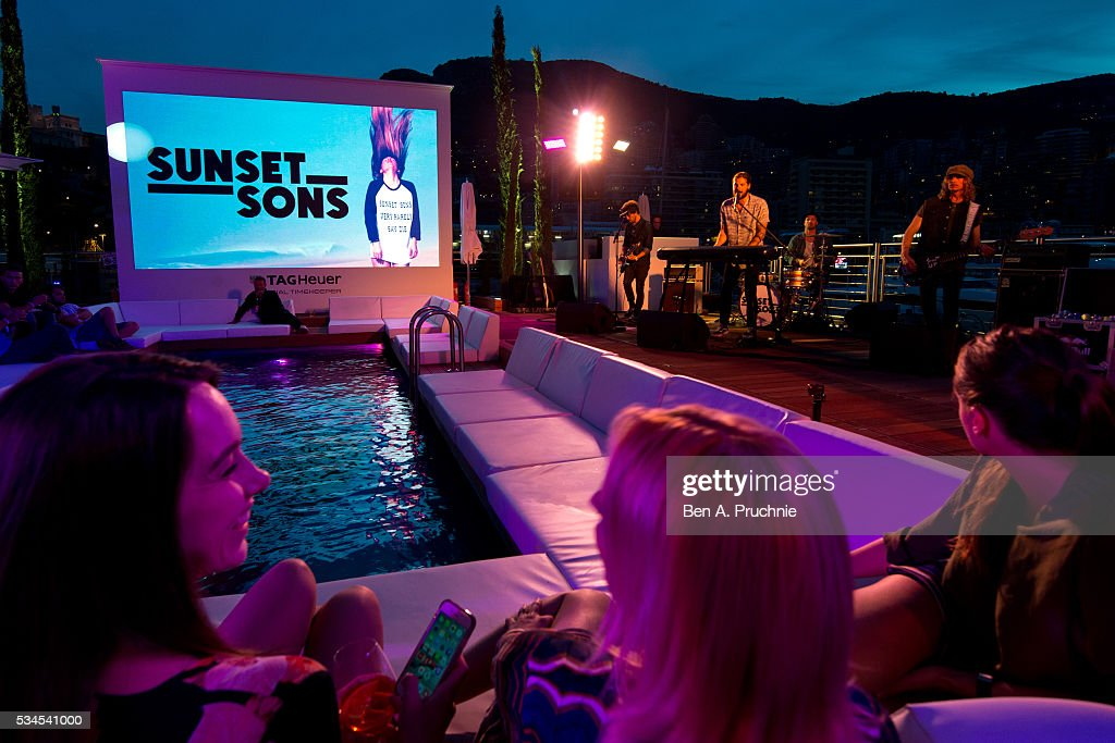 Sunset Sons perform at the Red Bull Racing Energy Station at Monte Carlo on May 26, 2016 in Monaco.