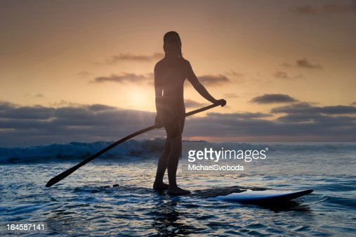 Sunset Stand-Up Paddle Boarding