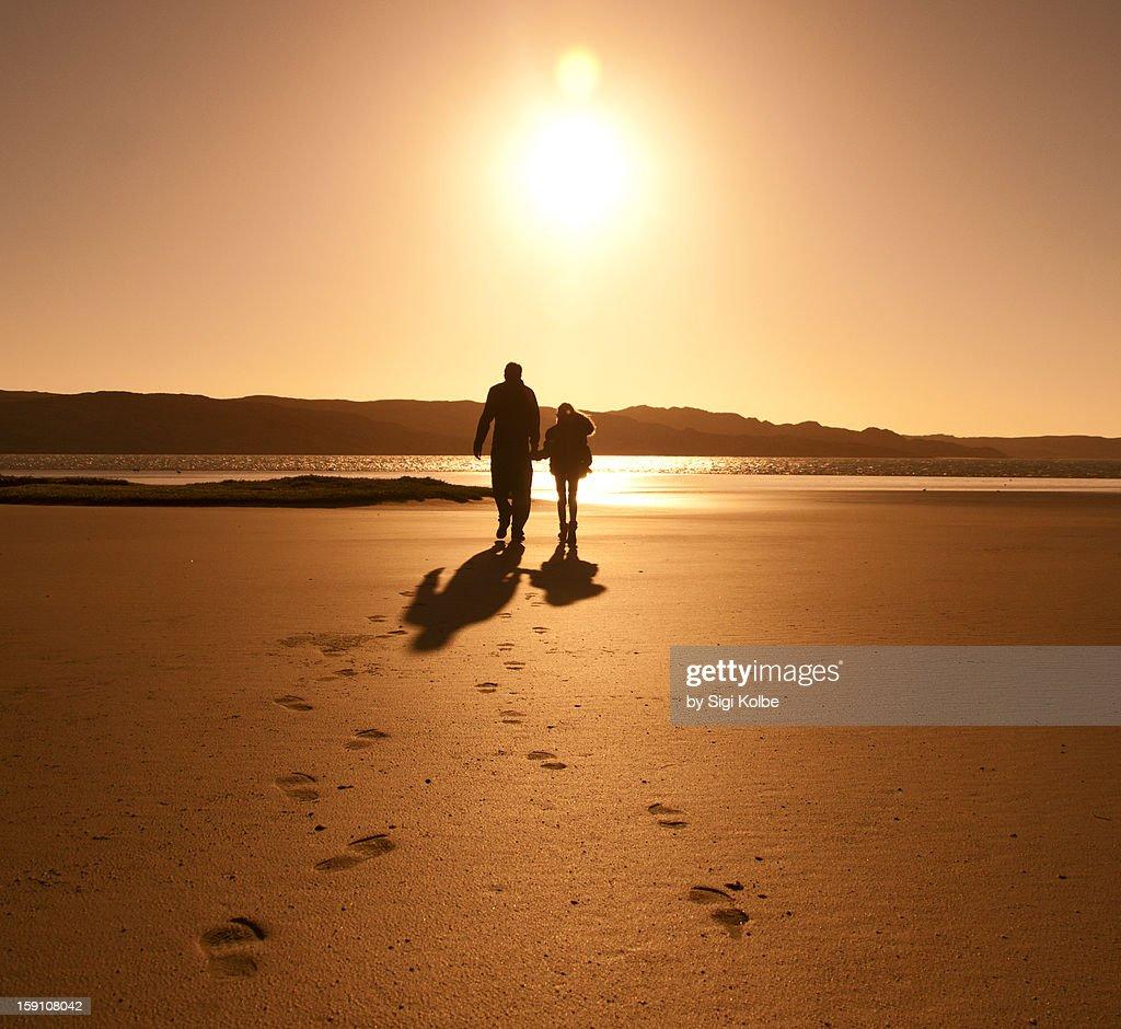 sunset stroll : Stock Photo