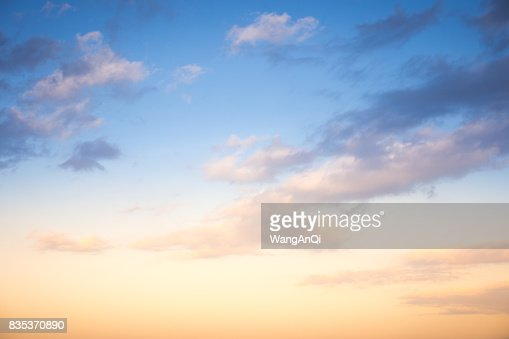 Sunset / sunrise with clouds, light rays and other atmospheric effect : Stock Photo