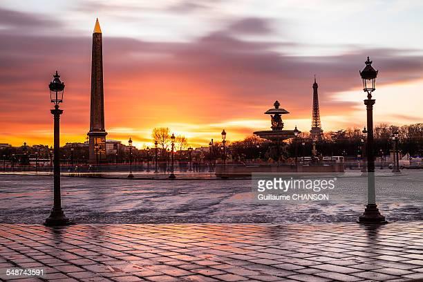 Sunset sur la Place de la Concorde ? Paris