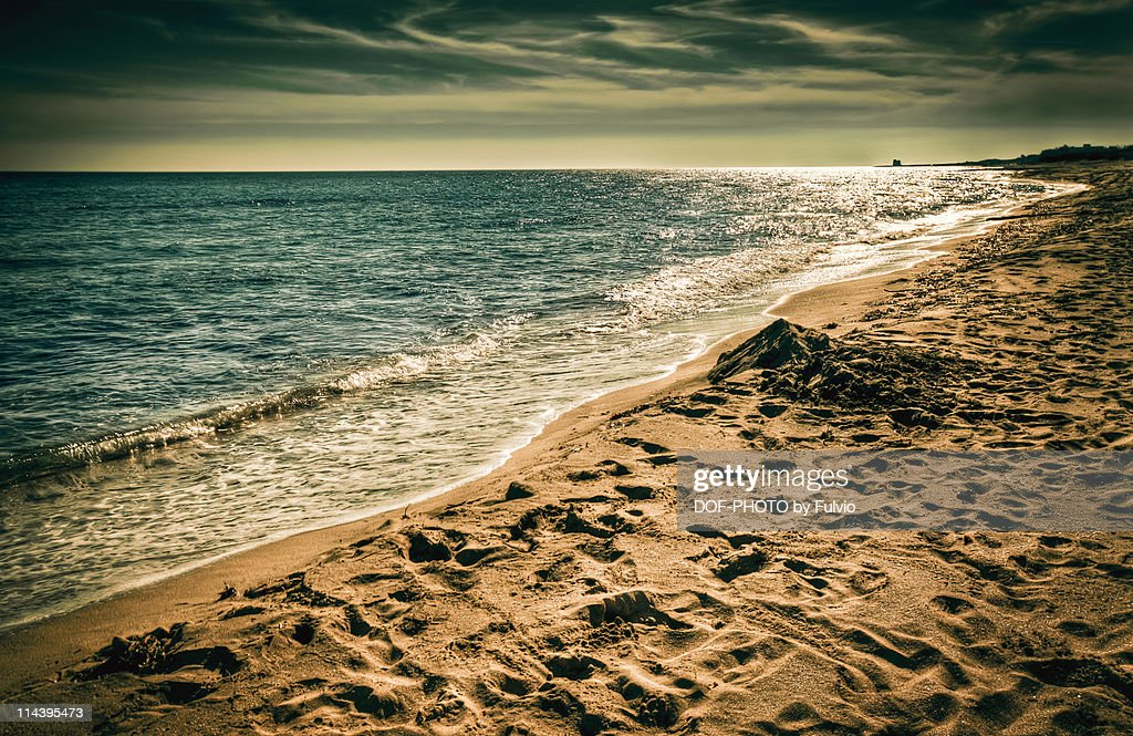 Sunset time at  beach : Stock Photo