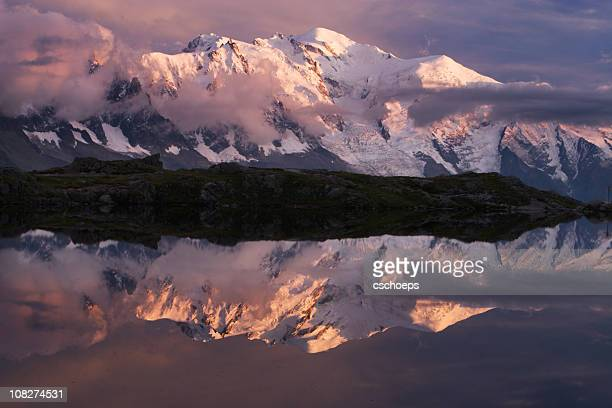 Sunset time at Mont Blanc