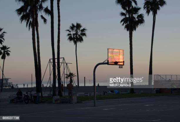 Sunset Venice Beach Basketball