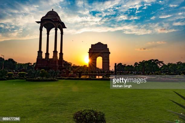 Sunset view at India Gate, New Delhi