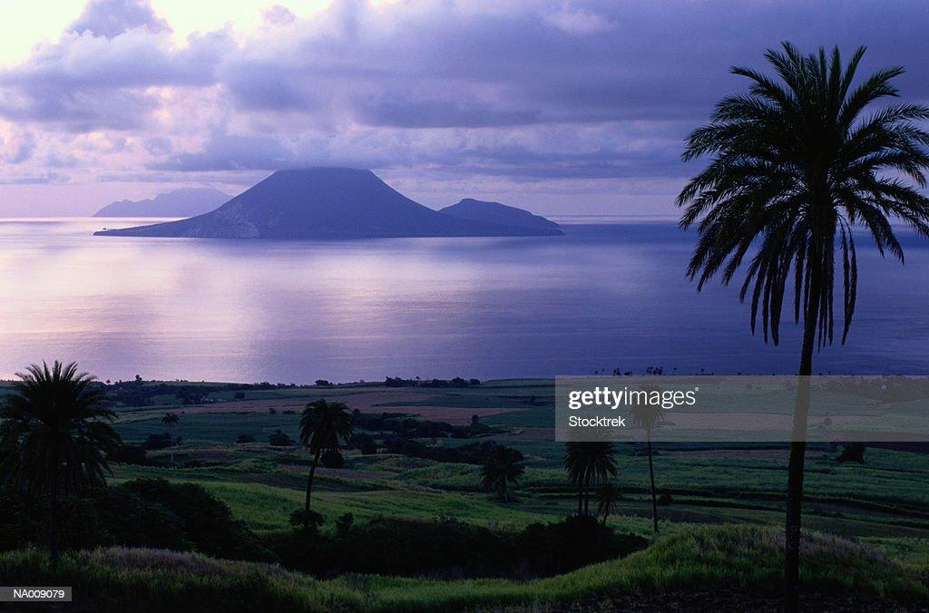 Sunset View of Island of Saba
