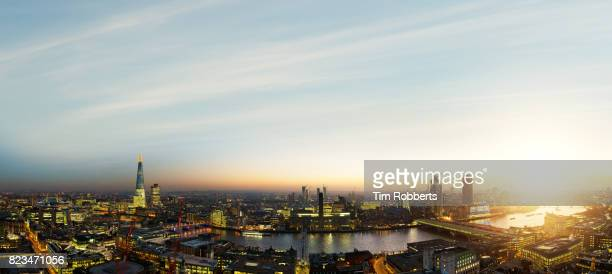Sunset view of London