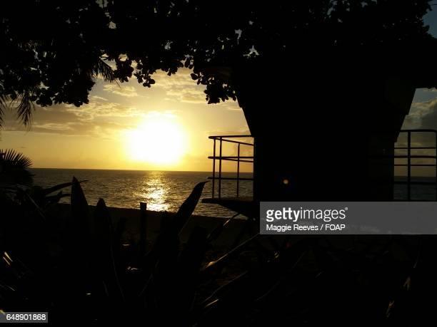 Sunset view of ocean