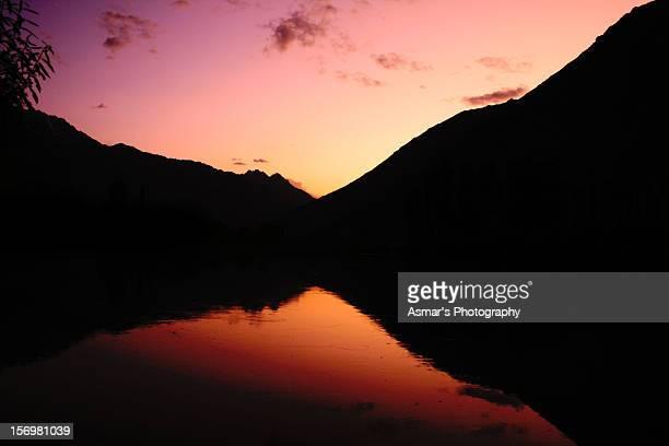 Sunset view of Phandar lake