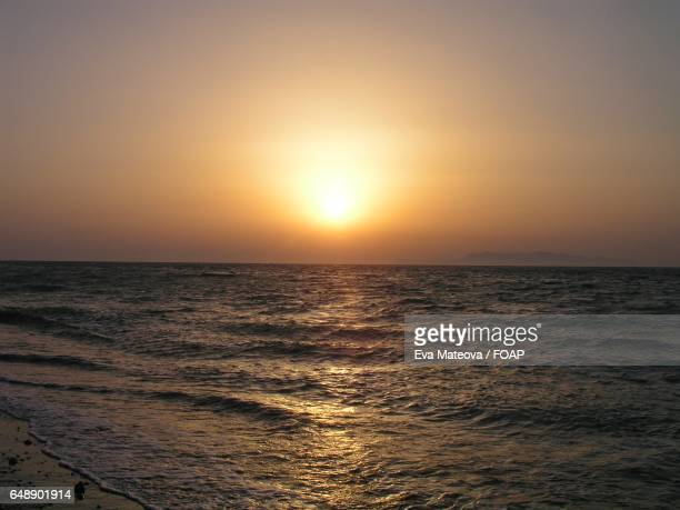 Sunset view of sea