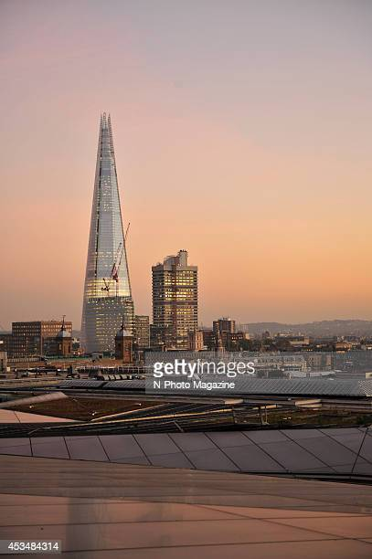 A sunset view of the London city skyline and The Shard from the One New Change building photographed during a shoot for NPhoto Magazine November 14...