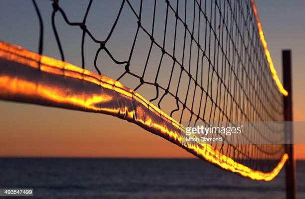 Sunset volleyball net