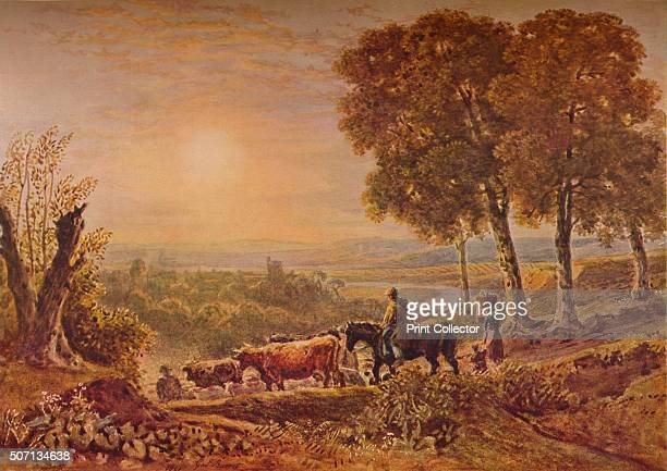 Sunset with Cattle' 1841 From A Catalogue of the Pictures and Drawings in the collection of Frederick John Nettleford Volume I by C Reginald Grundy...