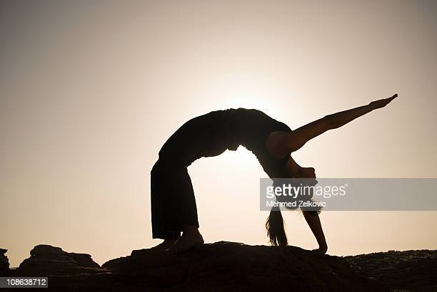Sunset Yoga Wheel Pose