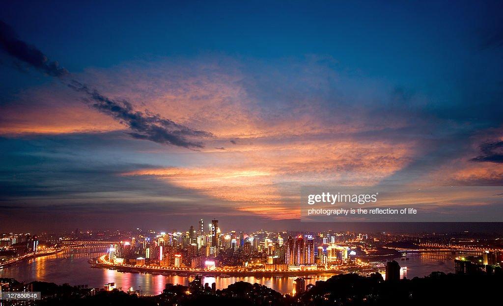 Sunset, Yuzhong Peninsula