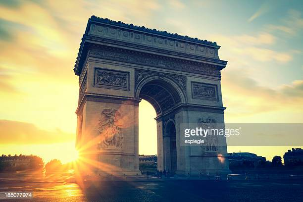 Sunsets at Arc de Triomphe, Paris, France