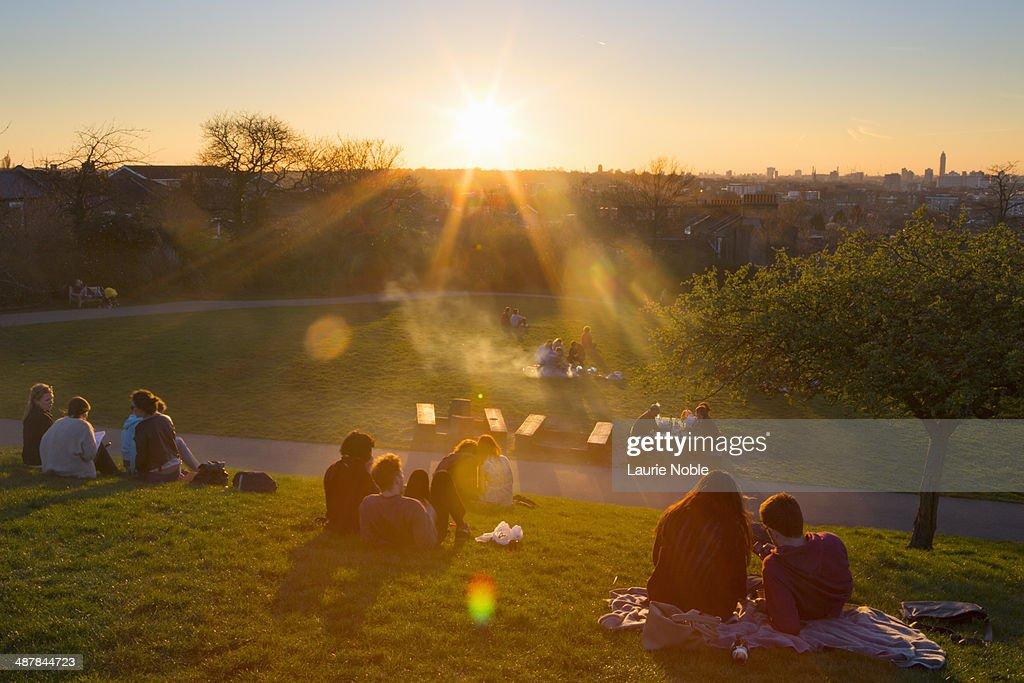 Sunsetting over Telegraph Hill Park