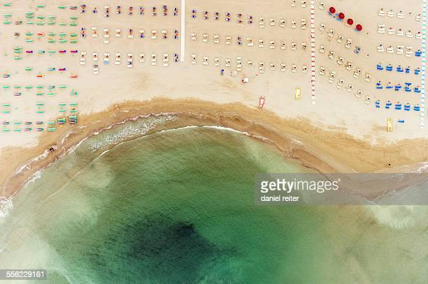 Sunshades on a beach